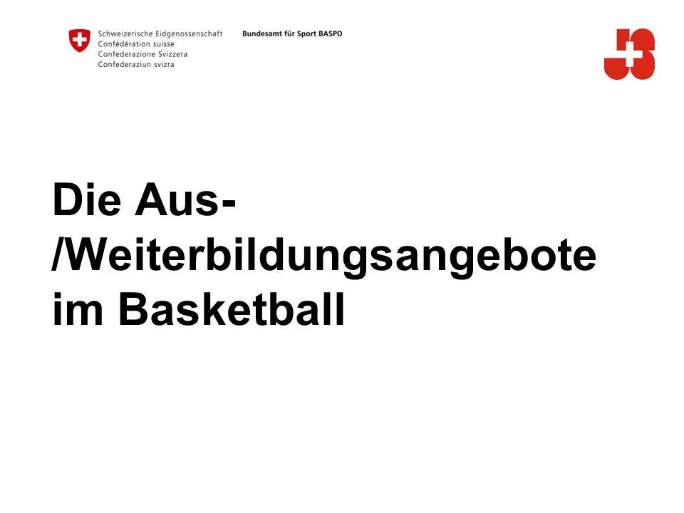 Die Aus- /Weiterbildungsangebote im Basketball