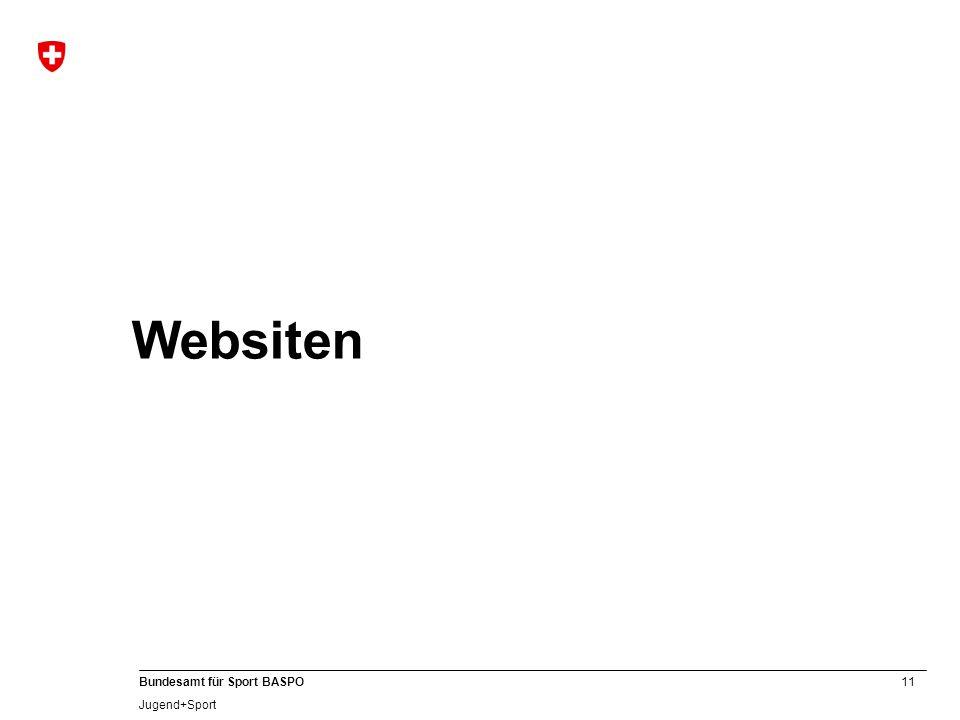 11 Bundesamt für Sport BASPO Jugend+Sport Websiten