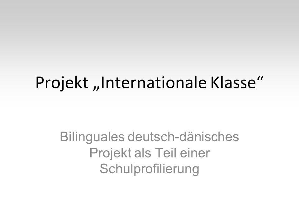 """Projekt """"Internationale Klasse Bilinguales deutsch-dänisches Projekt als Teil einer Schulprofilierung"""