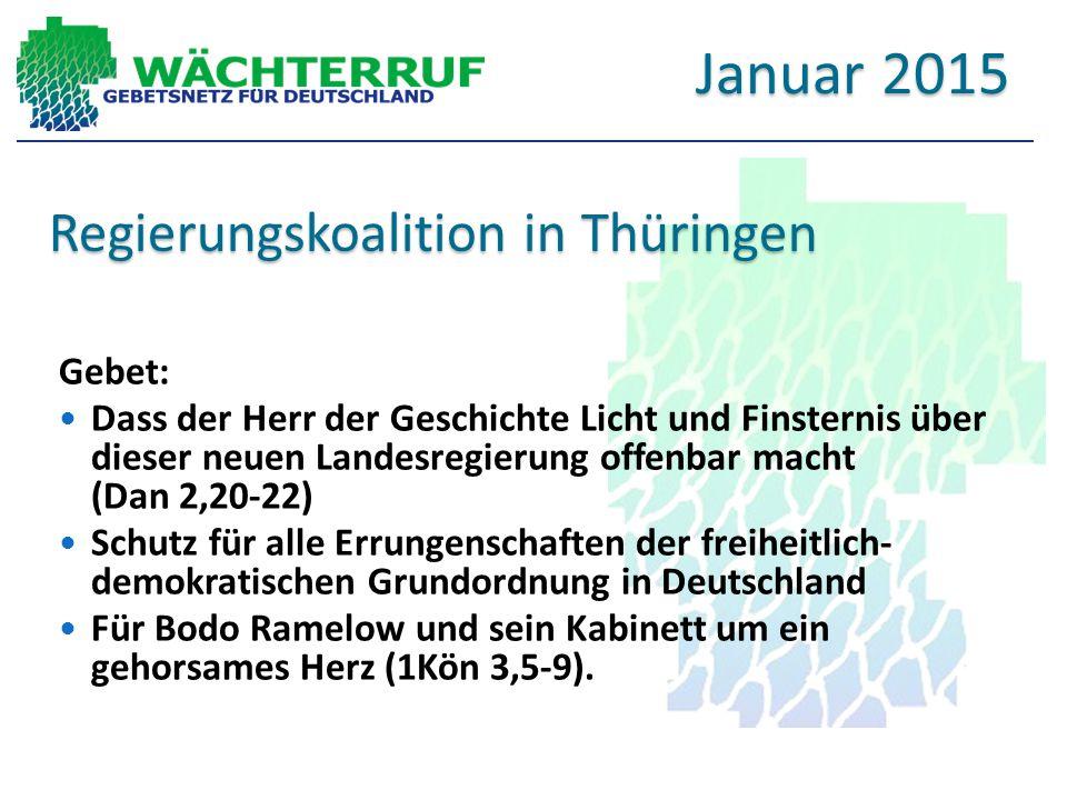 Regierungskoalition in Thüringen Gebet: Dass der Herr der Geschichte Licht und Finsternis über dieser neuen Landesregierung offenbar macht (Dan 2,20-2