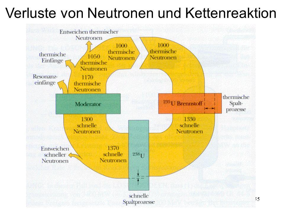 155 Verluste von Neutronen und Kettenreaktion