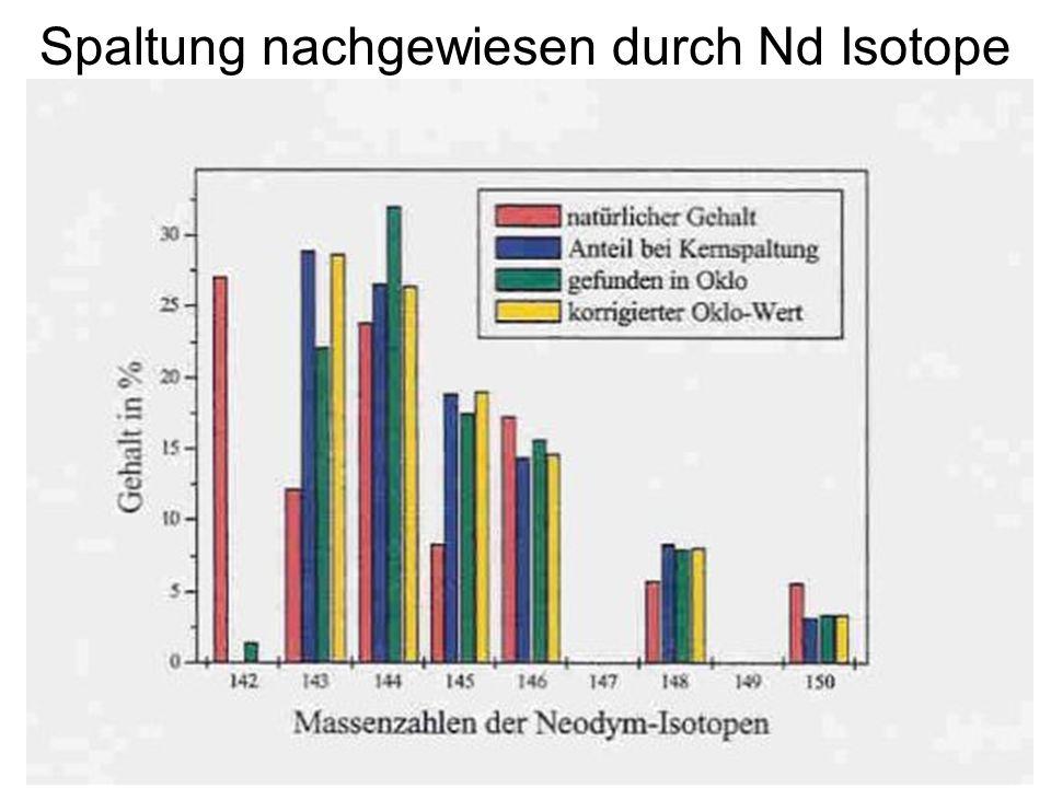 163 Spaltung nachgewiesen durch Nd Isotope