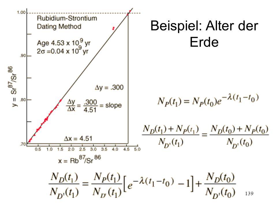 139 Beispiel: Alter der Erde