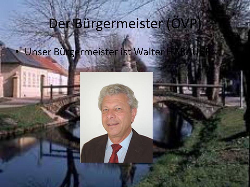 Der Bürgermeister (ÖVP) Unser Bürgermeister ist Walter HARAUER