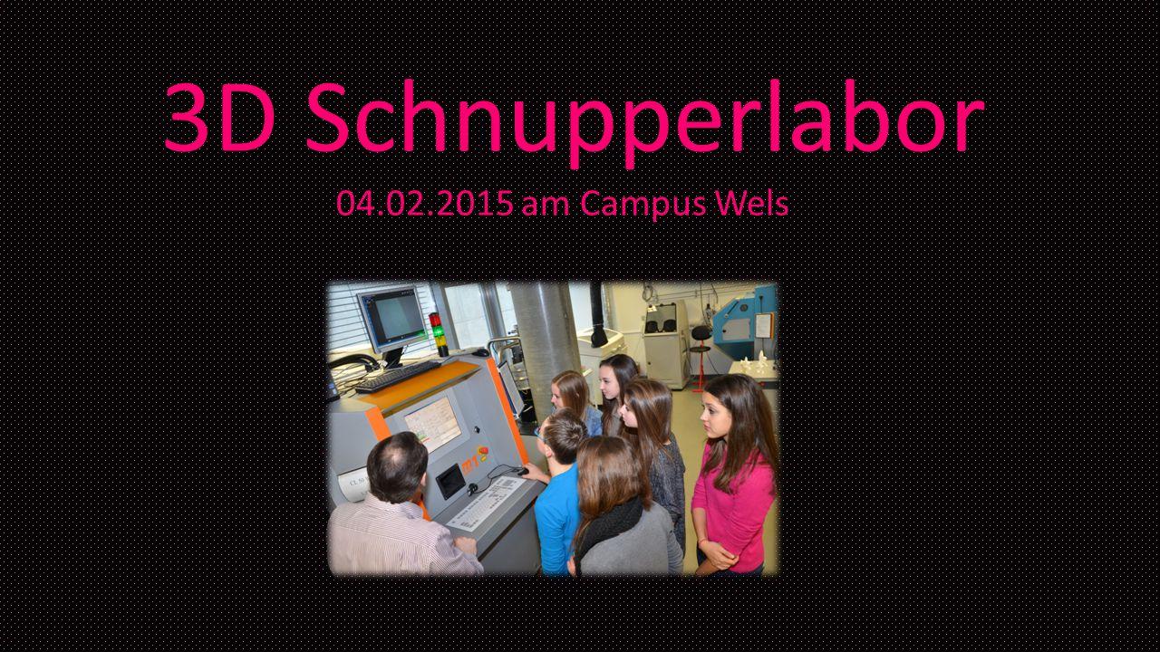 3D Schnupperlabor 04.02.2015 am Campus Wels
