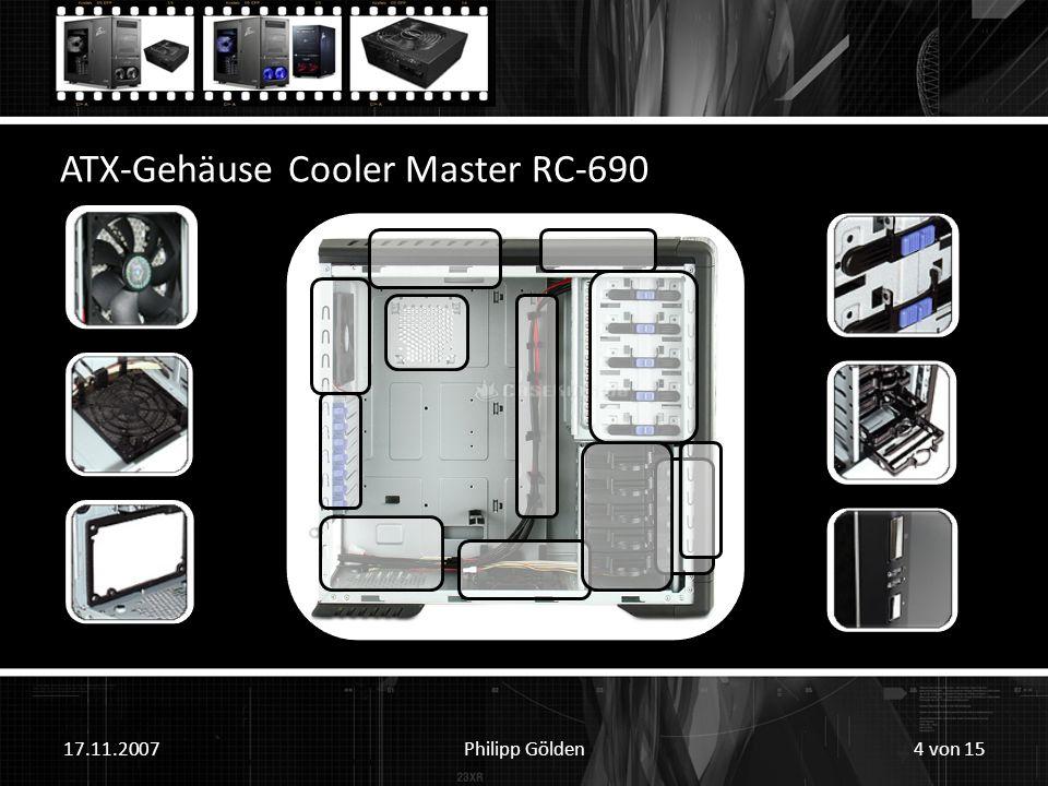 17.11.2007Philipp Gölden ATX-Gehäuse Cooler Master RC-690 4 von 15