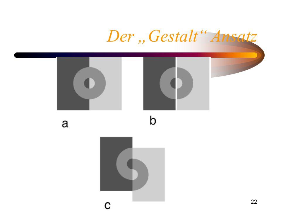 """Helligkeitswahrnehmung22 Der """"Gestalt"""" Ansatz"""