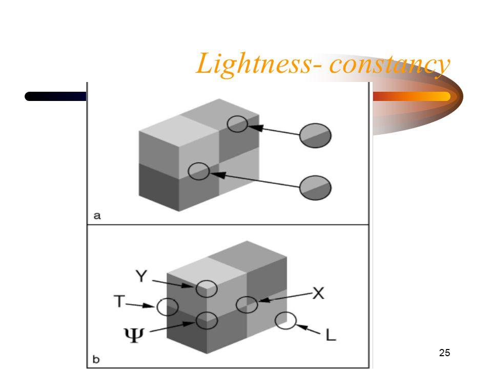 Helligkeitswahrnehmung25 Lightness- constancy