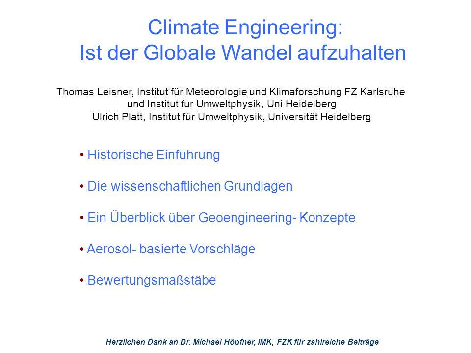 Klimawandel – was tun.
