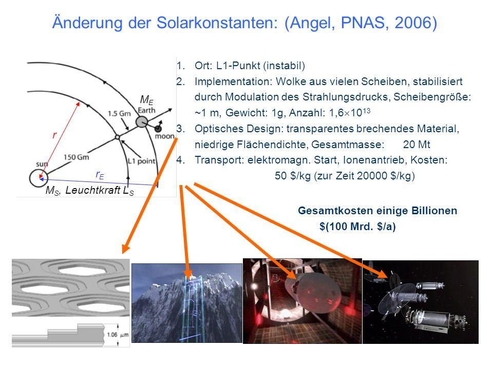 r rErE M S, Leuchtkraft L S MEME 1.Ort: L1-Punkt (instabil) 2.Implementation: Wolke aus vielen Scheiben, stabilisiert durch Modulation des Strahlungsd