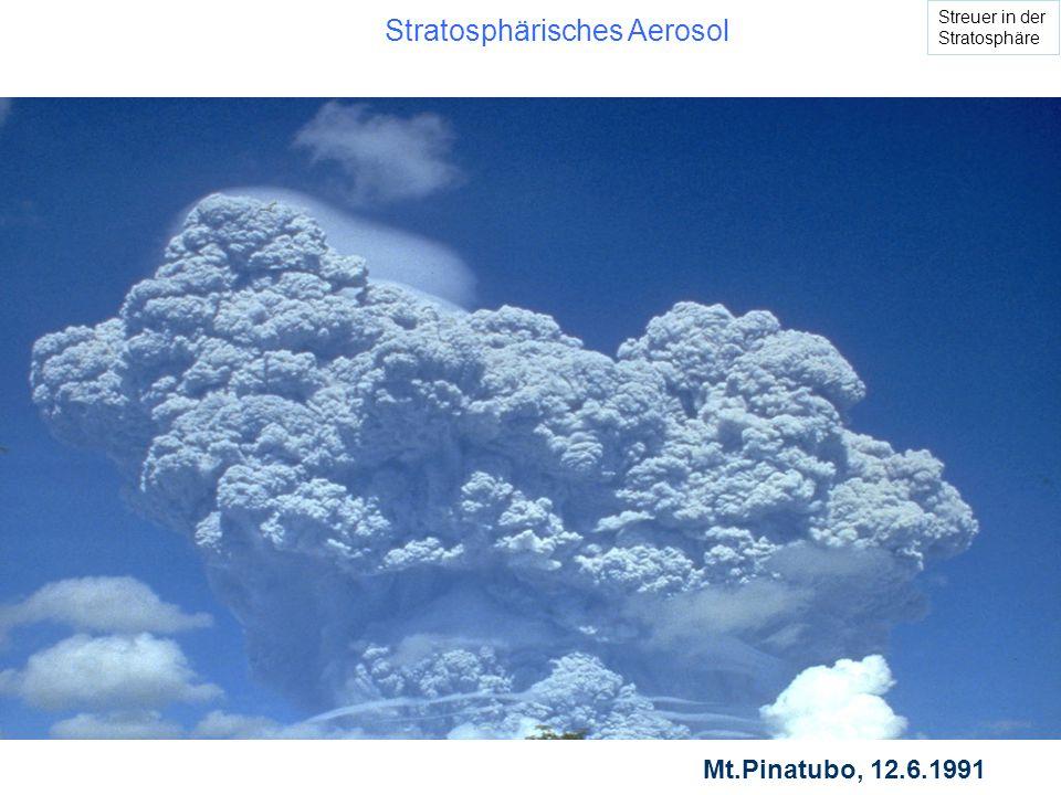Stratosphärisches Aerosol Mt.Pinatubo, 12.6.1991 Streuer in der Stratosphäre