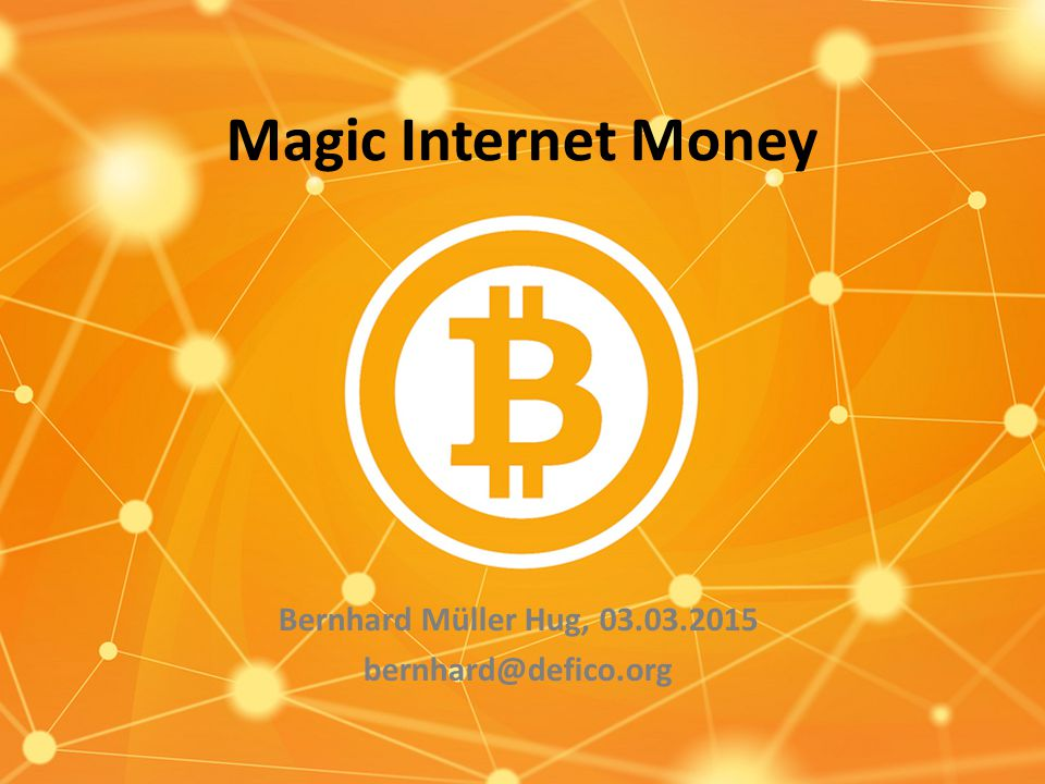 Magic Internet Money Bernhard Müller Hug,