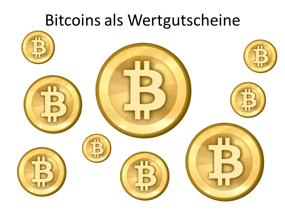 Bitcoins als Wertgutscheine