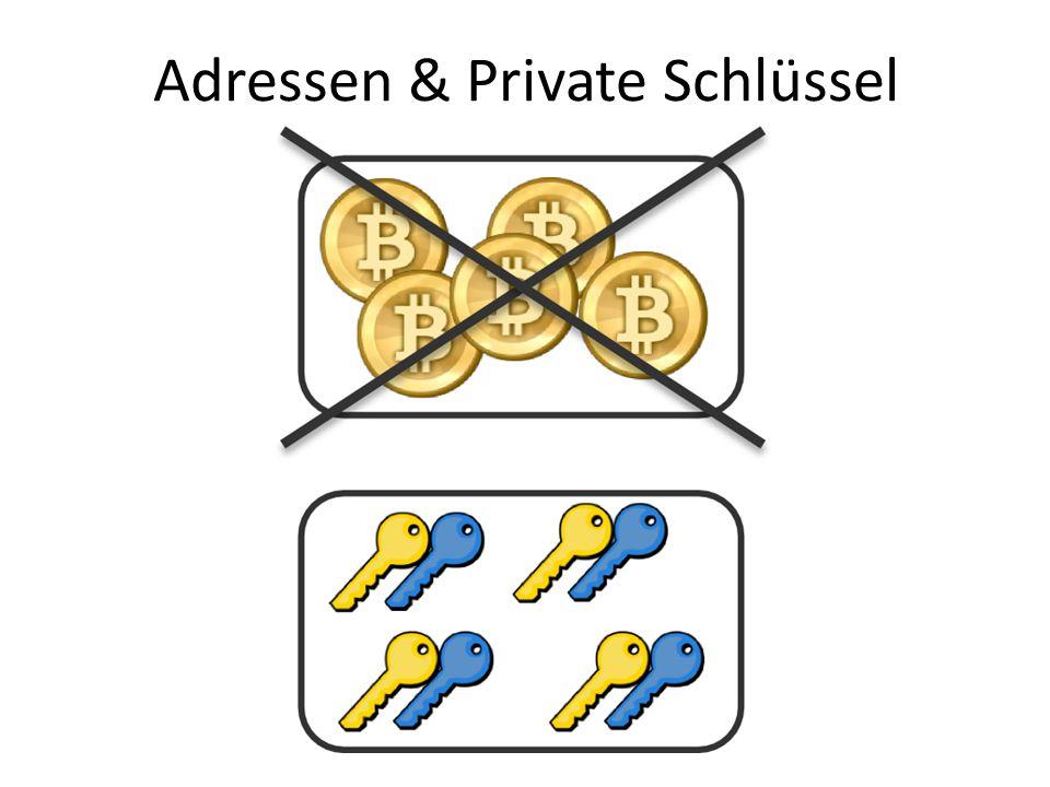 Adressen & Private Schlüssel