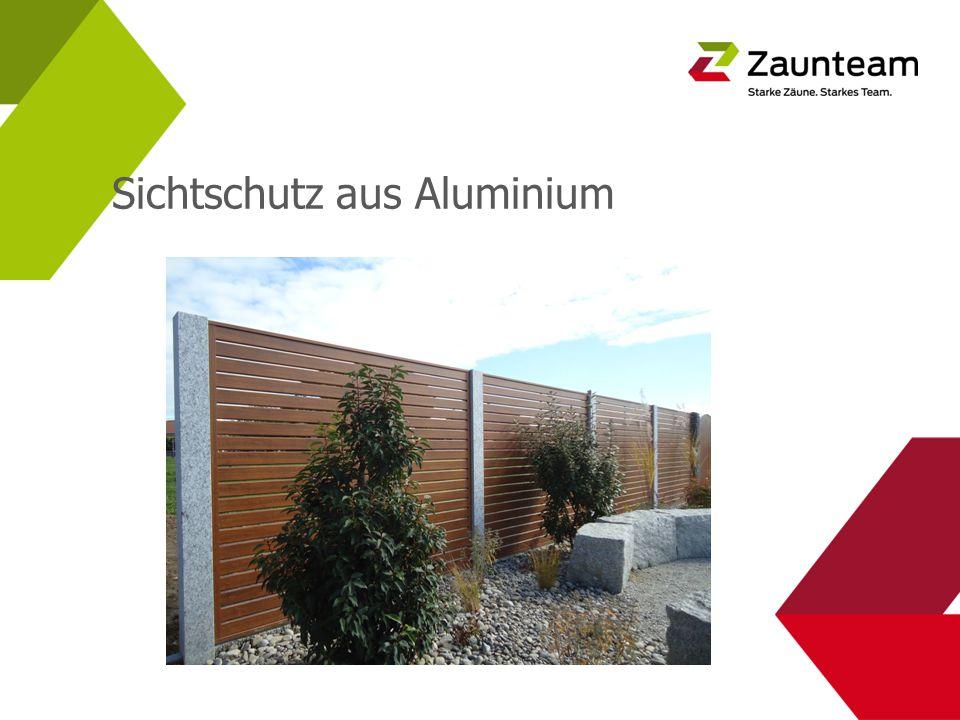 Sichtschutz aus Aluminium