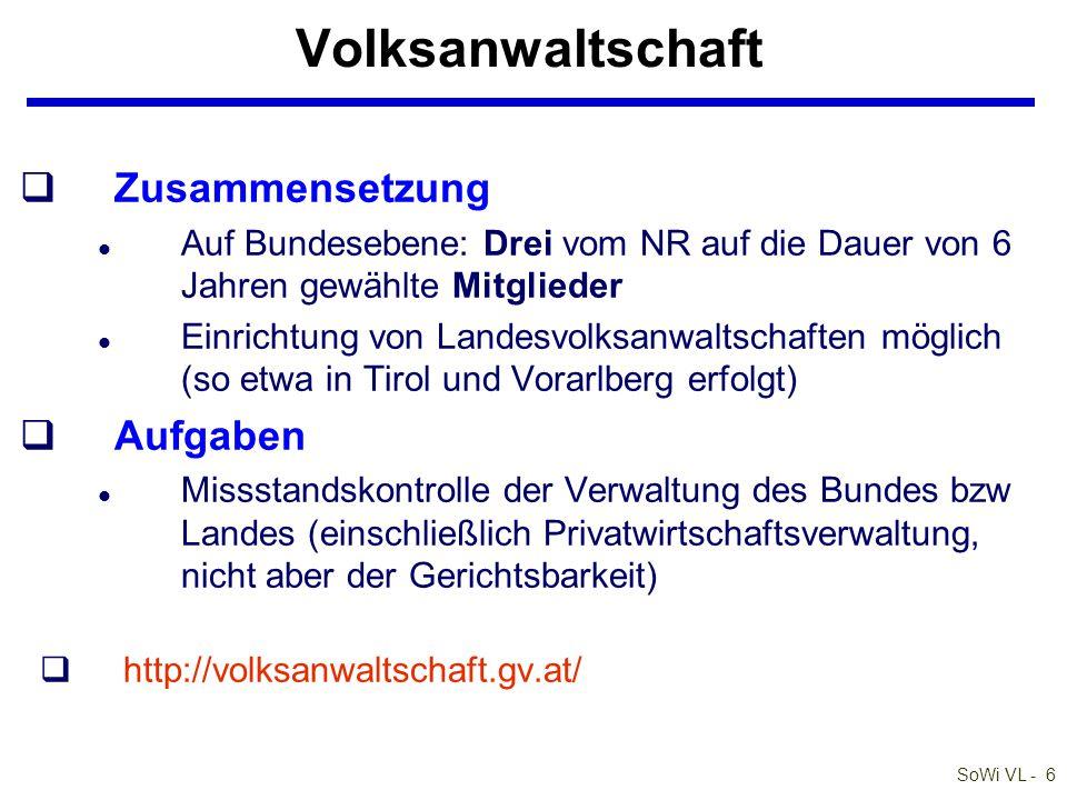SoWi VL - 17 Barta: Zivilrecht online Einteilung des bürgerlichen Rechts q§ 14 ABGB: das ABGB von 1811 teilt ein in: l 1.