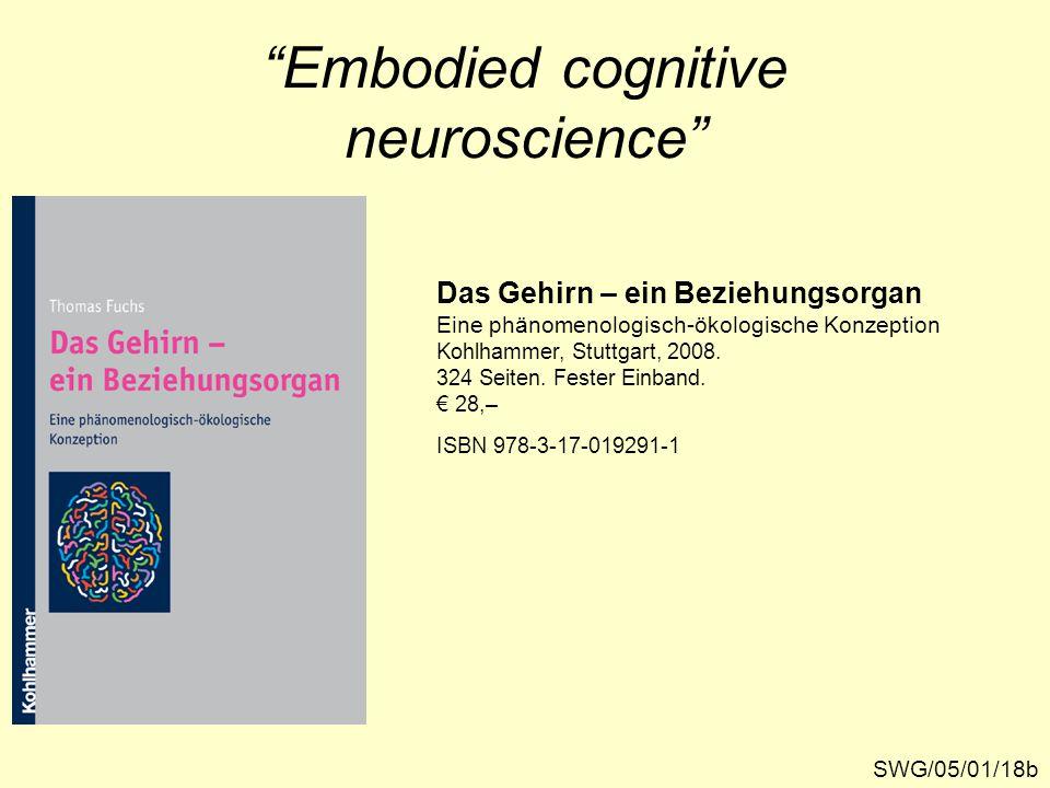 """""""Embodied cognitive neuroscience"""" Das Gehirn – ein Beziehungsorgan Eine phänomenologisch-ökologische Konzeption Kohlhammer, Stuttgart, 2008. 324 Seite"""