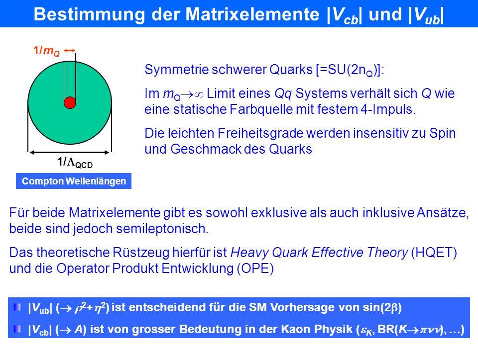 B s B s Mischung: Ergebnisse Noch keine signifikante Messung. Gespanntes Warten auf CDF, D0… LEP/SLD/CDF Amplitudenspektrum aus dem fit an die Eigenze