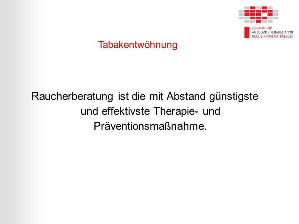 Raucherberatung ist die mit Abstand günstigste und effektivste Therapie- und Präventionsmaßnahme.