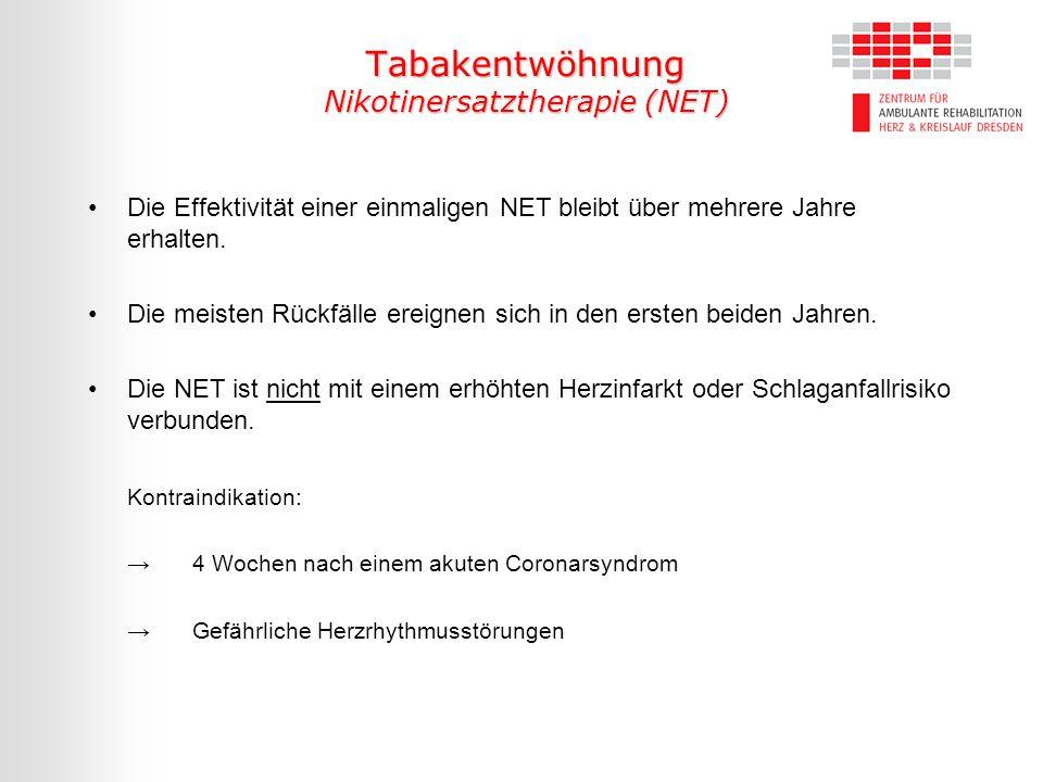 Die Effektivität einer einmaligen NET bleibt über mehrere Jahre erhalten. Die meisten Rückfälle ereignen sich in den ersten beiden Jahren. Die NET ist
