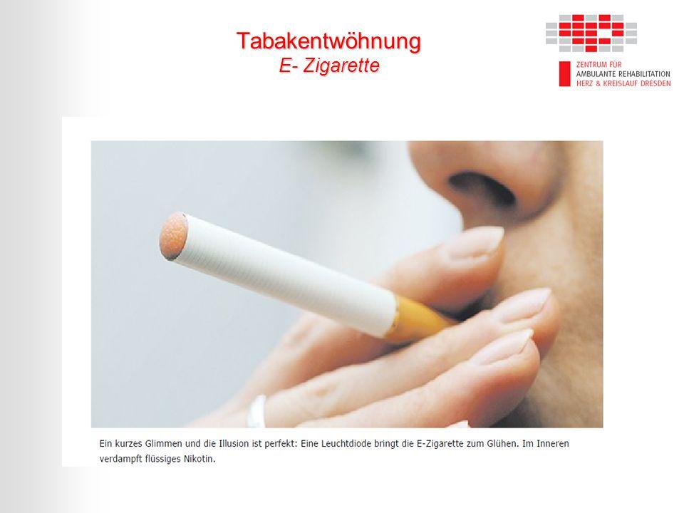 Tabakentwöhnung E- Zigarette
