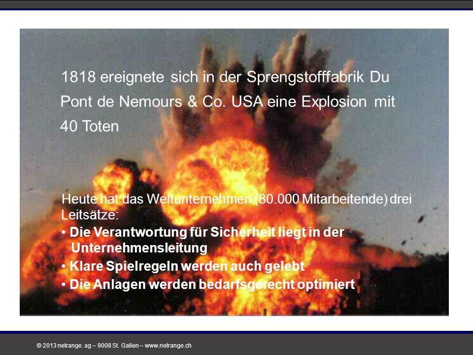 © 2013 netrange. ag – 9008 St. Gallen – www.netrange.ch Heute hat das Weltunternehmen (80.000 Mitarbeitende) drei Leitsätze: Die Verantwortung für Sic