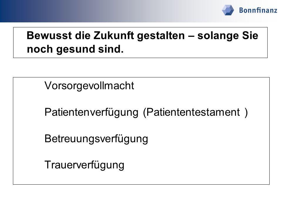 Vollmachten Bankvollmachten für Konten, Depots u.s.w.
