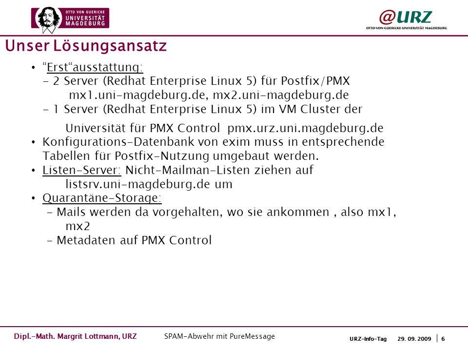 7URZ-Info-Tag 29.09. 2009 Infrastruktur Dipl.-Math.