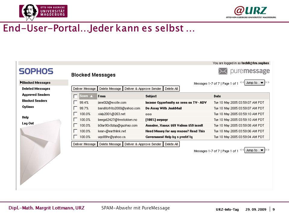9URZ-Info-Tag 29. 09. 2009 End-User-Portal…Jeder kann es selbst … Dipl.-Math.