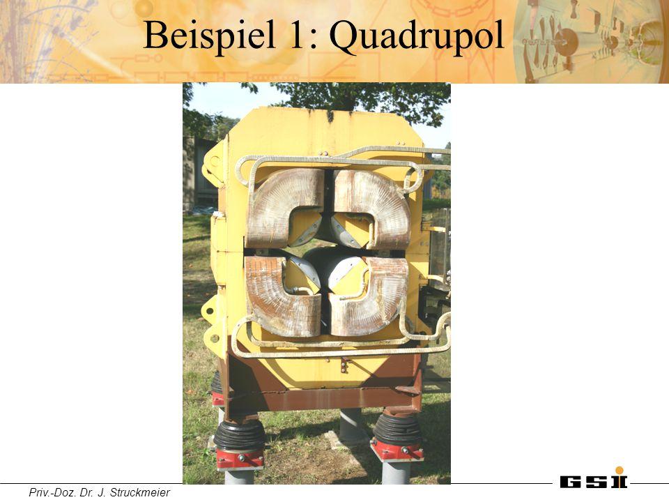 Priv.-Doz. Dr. J. Struckmeier Beispiel 1: Quadrupol