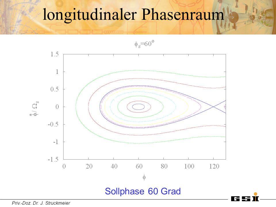 Priv.-Doz. Dr. J. Struckmeier longitudinaler Phasenraum Sollphase 60 Grad