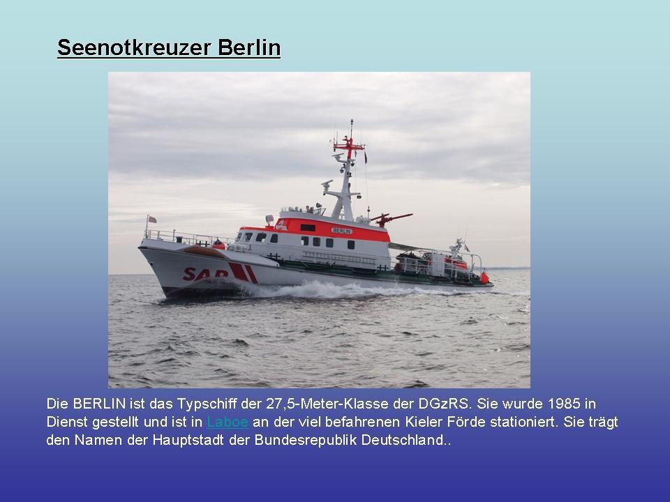 Seenotrettungsboot Hans Ingwersen in Travemünde stationiert Länge 9,41 m Breite 3,61 Maschine Diesel Leistung 320 PS 18 kn (33 km/h)