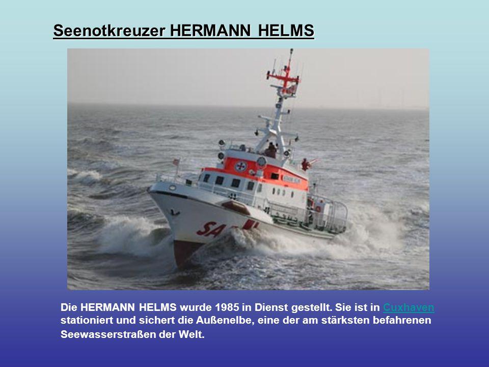 Die HERMANN HELMS wurde 1985 in Dienst gestellt.