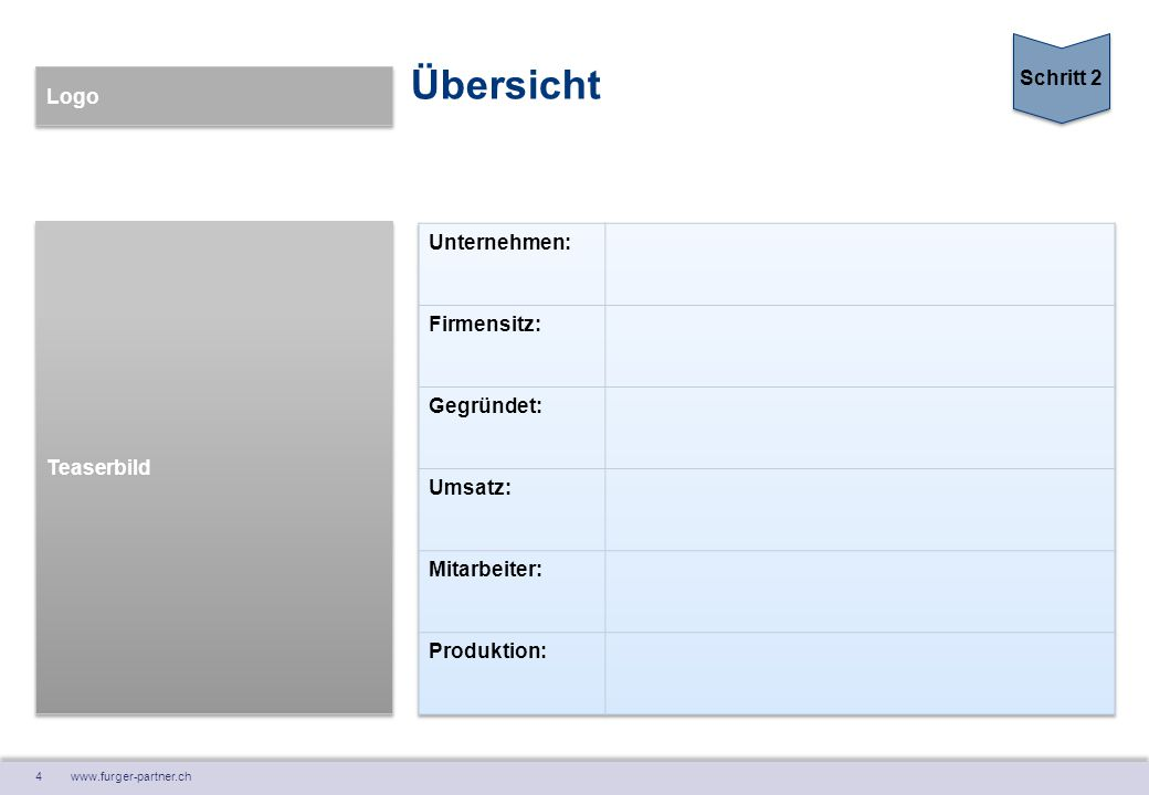 4 www.furger-partner.ch Teaserbild Logo Übersicht Schritt 2