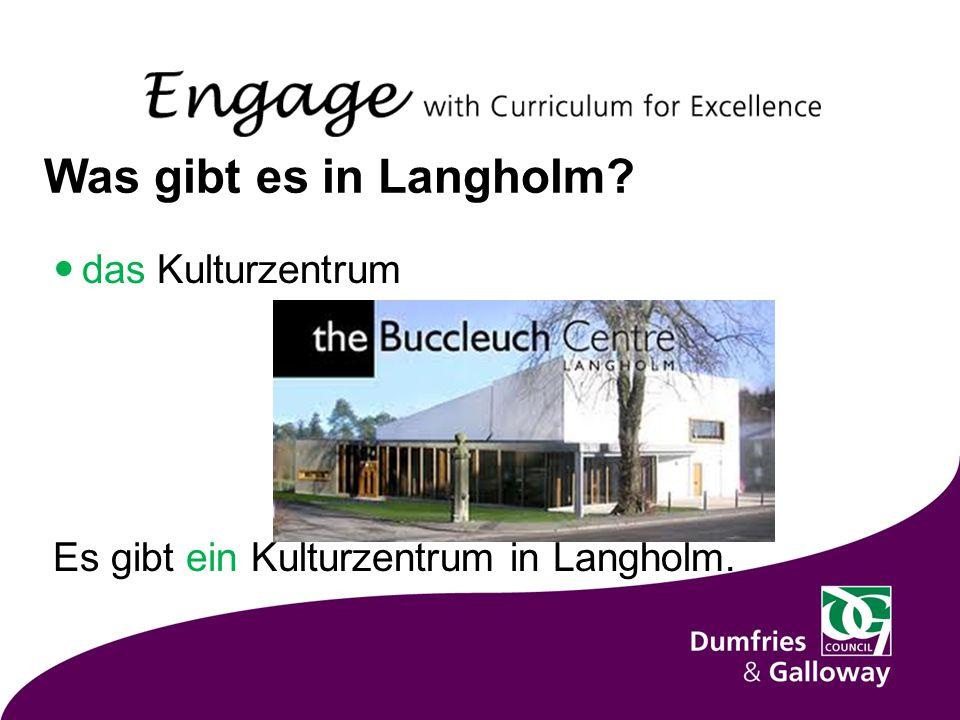 Was gibt es in Langholm das Kulturzentrum Es gibt ein Kulturzentrum in Langholm.