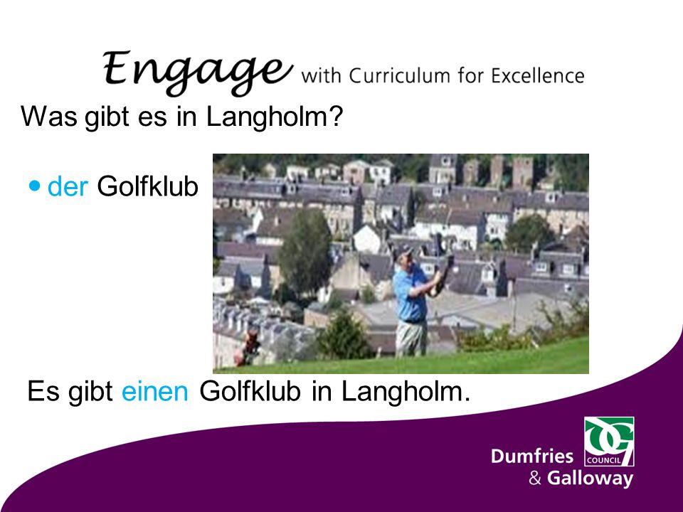 Was gibt es in Langholm der Golfklub Es gibt einen Golfklub in Langholm.