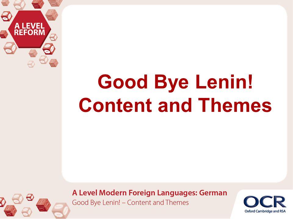 """Die Handlung und Inhalt von """"Good Bye Lenin! von Wolfgang Becker"""