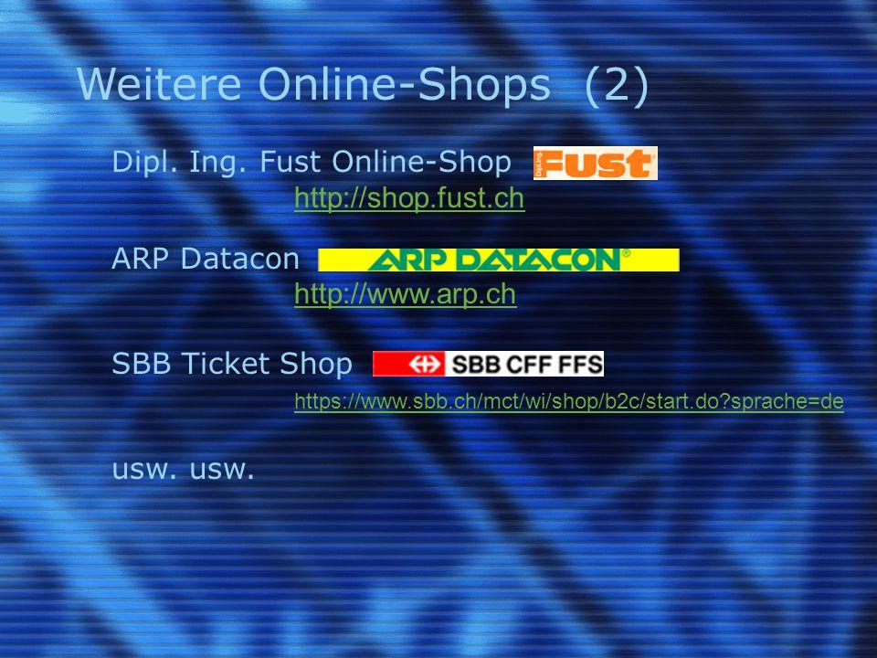 Weitere Online-Shops (2) Dipl. Ing.