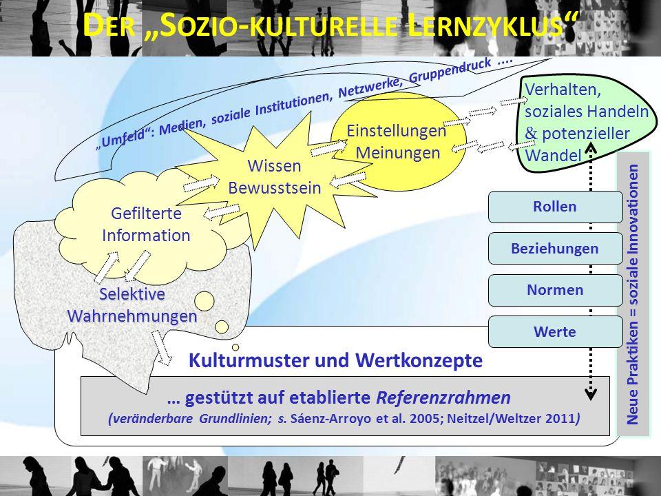 Kulturmuster und Wertkonzepte … gestützt auf etablierte Referenzrahmen (veränderbare Grundlinien; s. Sáenz-Arroyo et al. 2005; Neitzel/Weltzer 2011) G