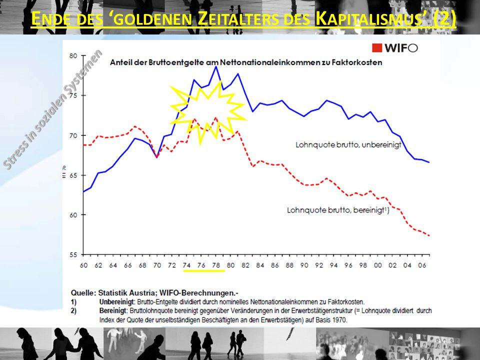 Stress in sozialen Systemen E NDE DES ' GOLDENEN Z EITALTERS DES K APITALISMUS ' (2)
