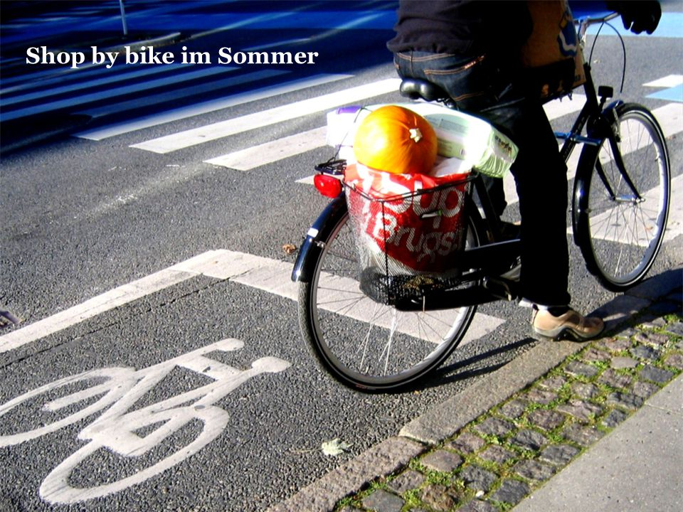Shop by bike im Sommer