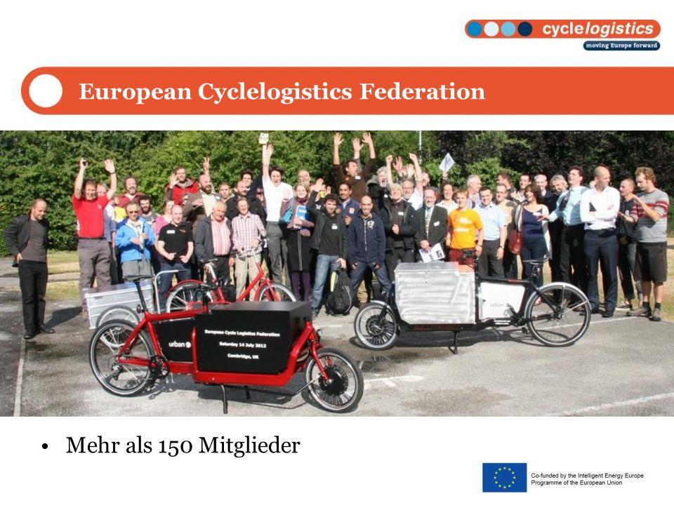 European Cyclelogistics Federation Mehr als 150 Mitglieder