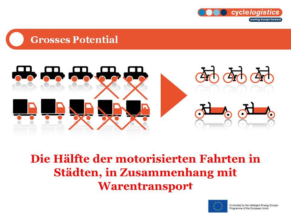 Big Potential Die Hälfte der motorisierten Fahrten in Städten, in Zusammenhang mit Warentransport