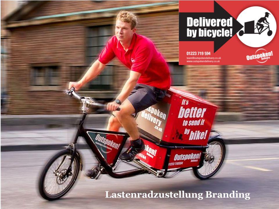 Lastenradzustellung Branding