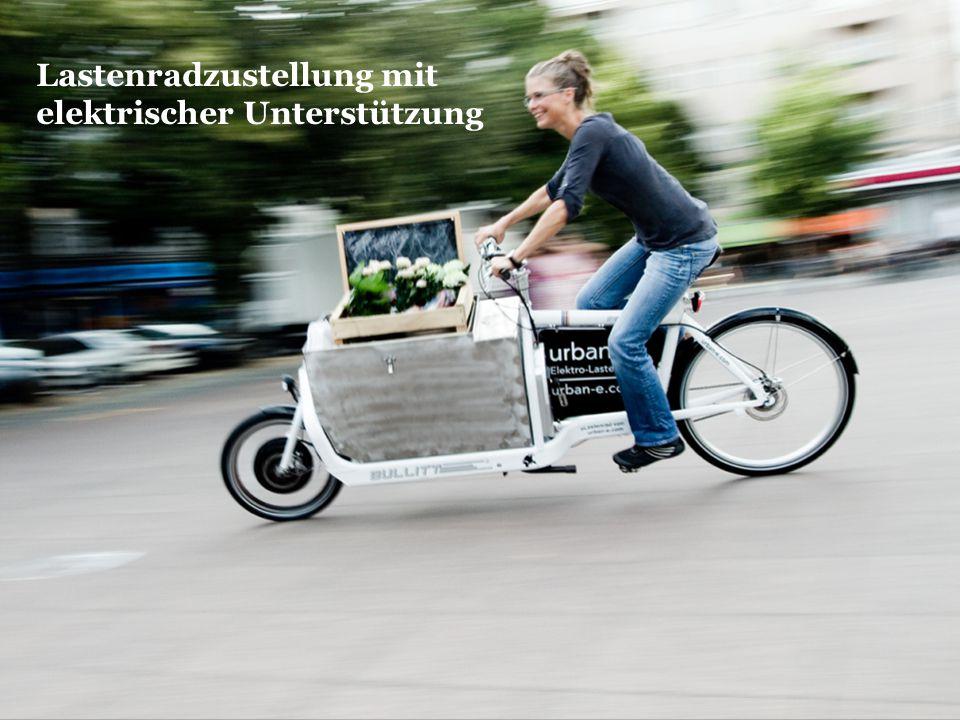 Lastenradzustellung mit elektrischer Unterstützung