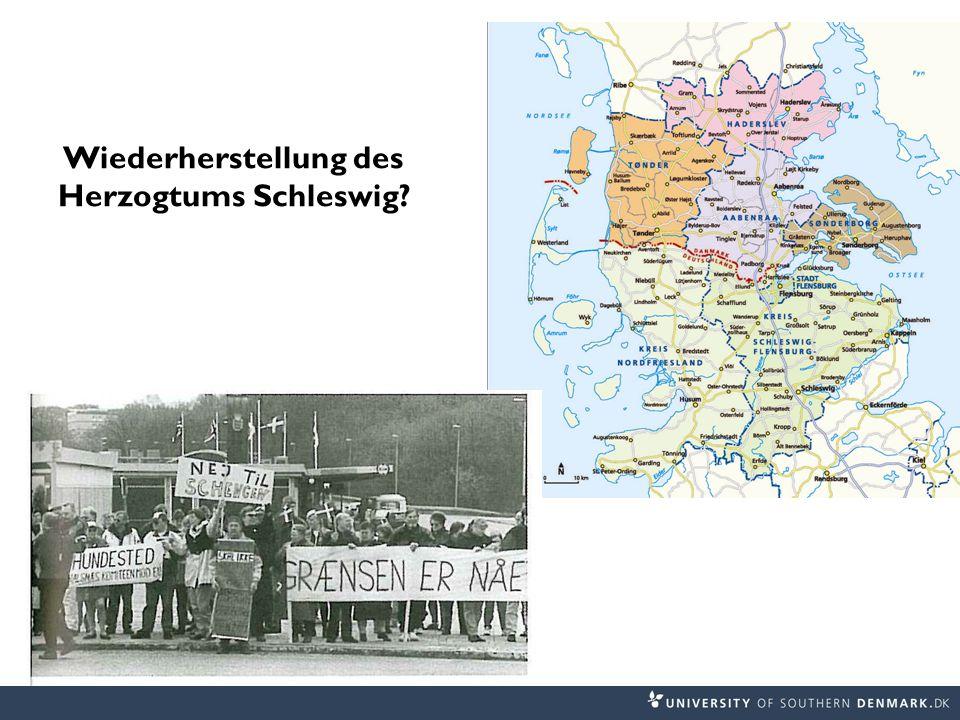 Wiederherstellung des Herzogtums Schleswig