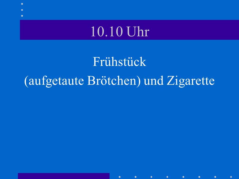 14.55 Uhr Wir kaufen: 5 Sixpack Thüringer, 20 Schnitzel, 15 Bauchfleisch, 5 Kisten Gilde, jeweils ne Stiege Kümmerling und Feigling, 2 Baguettes und diverse Klein-Zerealien (Saucen, Silberzwiebeln, Gürkchen, Eimer-Kartoffelsalat,...).