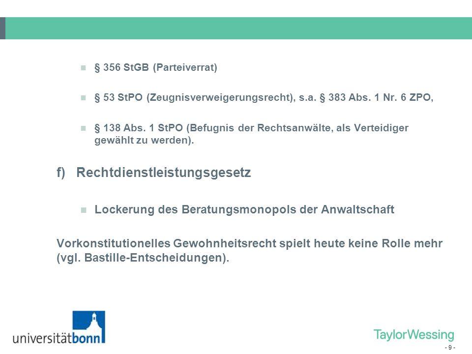 """- 30 - Unterschiedliche Ausgestaltungen in den Bundesländern: Hauptberufliche """"nur Notare, Anwaltsnotare und Beamtennotare (in BW); in NRW """"Nur-Notare im Rheinland und Anwaltsnotare in Westfalen."""