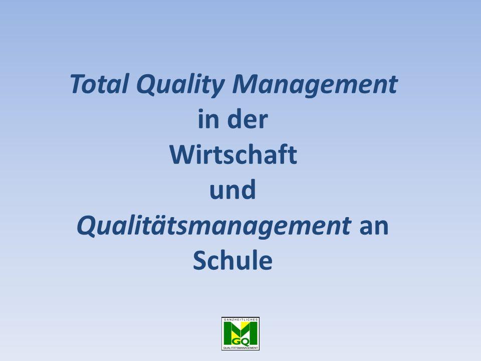Total Quality Management in der Wirtschaft und Qualitätsmanagement an Schule