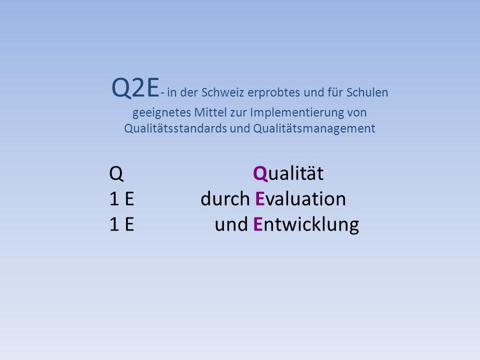 QQualität 1 E durch Evaluation 1 E und Entwicklung Q2E - in der Schweiz erprobtes und für Schulen geeignetes Mittel zur Implementierung von Qualitätss